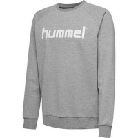 Hummel Go Cotton Logo Sweatshirt grey melange Kinder