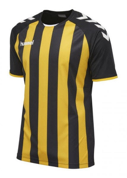 Hummel Core Striped Trikot black-yellow Herren - Bild 1
