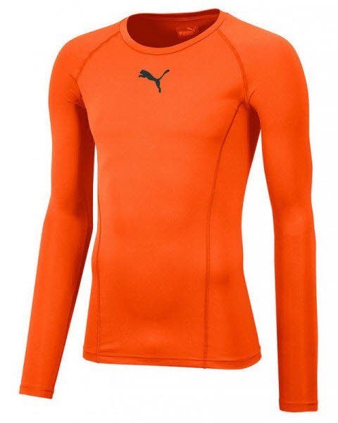 Puma LIGA Baselayer LS Funktionshirt golden poppy Herren