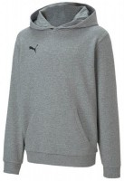 Puma teamGOAL 23 Casuals Hoody MEDIUM GRAY HEATHER Kinder