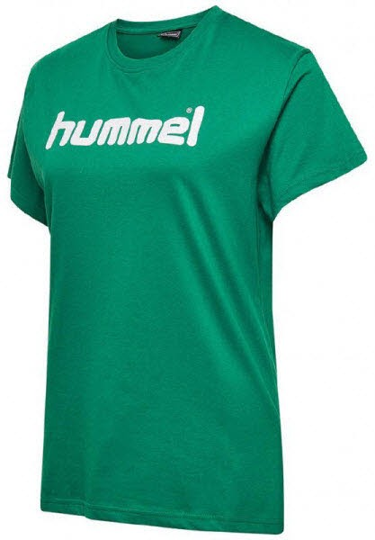 Hummel Go Cotton Logo T-Shirt evergreen Damen - Bild 1
