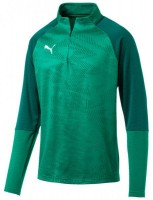 Puma CUP Training Jr 1/4 Zip Top Core pepper green-green Kinder