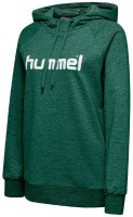 Hummel Go Cotton Logo Kapuzenpullover evergreen Damen