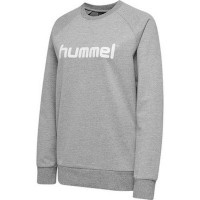Hummel Go Cotton Logo Sweatshirt grey melange Damen