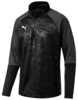 Puma CUP Training Jr 1/4 Zip Top Core puma black-asphalt Kinder