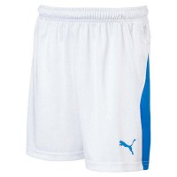 Puma LIGA Jr Shorts puma white-blue Kinder