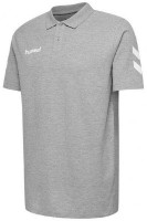 Hummel Go Cotton Polo-Shirt grey melange Kinder