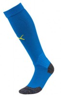 Puma LIGA Socks Stutzenstrümpfe electric blue-yellow