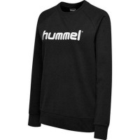 Hummel Go Cotton Logo Sweatshirt black Damen