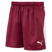 Puma LIGA Jr Shorts cordovan-puma white Kinder