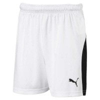 Puma LIGA Jr Shorts puma white-black Kinder