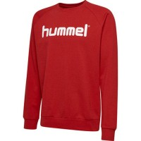 Hummel Go Cotton Logo Sweatshirt true red Kinder