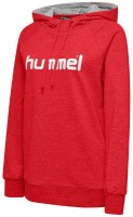 Hummel Go Cotton Logo Kapuzenpullover true red Damen
