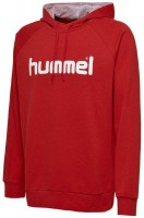 Hummel Go Cotton Logo Kapuzenpullover true red Kinder