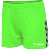 Hummel Authentic Poly Shorts green gecko Damen