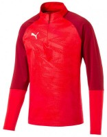 Puma CUP Training Jr 1/4 Zip Top Core puma red-chili Kinder