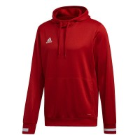adidas Team 19 Kapuzenpullover power red-white Kinder