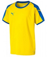 Puma LIGA Jr Trikot cyber yellow-blue Kinder