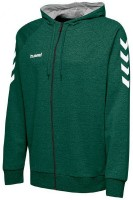 Hummel Go Cotton Kapuzenjacke evergreen Herren