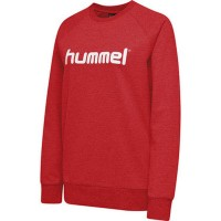Hummel Go Cotton Logo Sweatshirt true red Damen