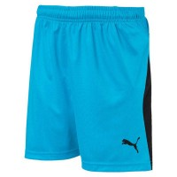 Puma LIGA Jr Shorts aquarius blue-black Kinder