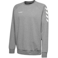 Hummel Go Cotton Sweatshirt grey melange Kinder