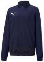Puma teamGOAL 23 Sideline Poly Jacke Jr peacoat-new navy Kinder