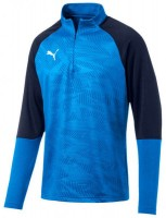 Puma CUP Training Jr 1/4 Zip Top Core blue-peacoat Kinder