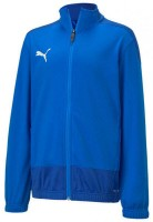 Puma teamGOAL 23 Sideline Poly Jacke Jr electric blue-blue Kinder