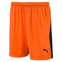 Puma LIGA Jr Shorts golden poppy-black Kinder